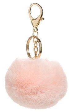 Fur pom keychain