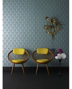 Need some cool wallpaper in my life (also, teal and mustard yellow <3).
