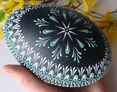 Items similar to Emu Egg Wax Embossed Pysanka, Drop-Pull Hand Decorated Emu Egg, Pysanky in Natural Green Color on Etsy Egg Crafts, Easter Crafts, Emu Egg, Polish Easter, Stone Art Painting, Carved Eggs, Easter Egg Designs, Ukrainian Easter Eggs, Easter Sale