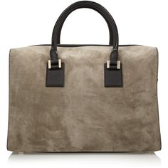 Victoria Beckham Victoria leather-trimmed suede tote ($3,200) ❤ liked on Polyvore