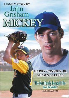 """Mickey"" is a 2004 American baseball drama film that stars Harry Connick, Jr., directed by Hugh Wilson, and written by best-selling novelist John Grisham. Nicholas Sparks, Mickey Movie, Baseball Movies, Irish Famine, John Grisham, Film Watch, Hallmark Movies, First Novel, Hd 1080p"