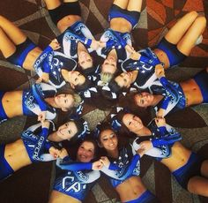 gliter-bows-nikepros: The gorgeous ladies of claw Taken from Edie's… Cheer Athletics, Cheer Stunts, Cheer Dance, Cheerleading Stunting, Cheer Picture Poses, Cheer Poses, Picture Ideas, Photo Ideas, Cheer Coaches