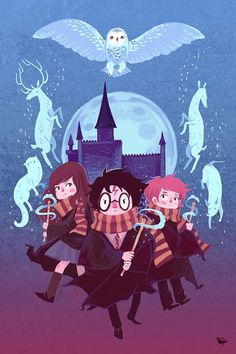 This is so pretty! I need to buy this! Brave Wizarding a Harry Potter Homage poster by theGorgonist, $20.00: