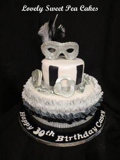 50 Shades of grey inspired birthday cake!