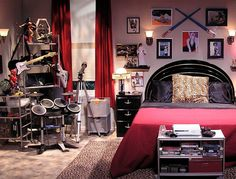 The Big Bang Theory set decor: Howard Wollowitz Room Decor. The decoration of Howies room is the geekiest of them all. I love the decoration on top of the head set. Dont like the print.
