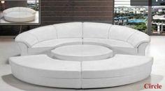 Divani Casa Circle - Modern Leather Circular Sectional 5-Piece Sofa Set VGEV2276-1-HL