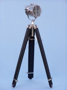 """Black/Chrome Montego Bay Spot Light 65"""" Nautical Decor from Handcrafted Nautical Decor - In stock and ready to ship"""
