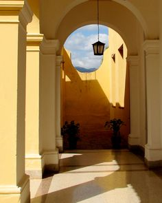 museum's hallway in Trinidad, Cuba..love the architecture!