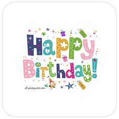 Share Cute Fun Free Birthday Cards For Kids Birthday Cards Free Animated Birthday Cards, Birthday Card Gif, Birthday Card With Name, Birthday Greetings For Facebook, Free Happy Birthday Cards, Birthday Cards Images, Happy Birthday Text, Birthday Wishes Messages, Happy Birthday Greeting Card