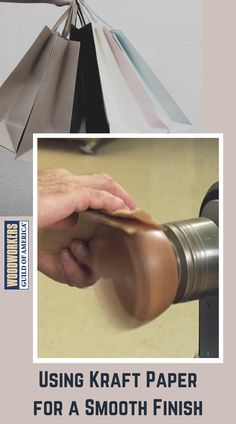 Wood finishing tips from WWGOA: learn how to use a piece of kraft paper to remove an overly glossy or textured finish from your project Paper Grocery Bags, Wood Finishing, Sandpaper, Scroll Saw, Brown Paper, Kraft Paper, Woodworking Tips, Wood Projects, Puzzles