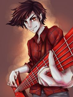 Marshall Lee of Adventure Time! It's weird that he only appeared once in the series yet I think he's more famous than Finn LOL I really love him, I wish. Marshall Lee the Vampire King Marshall Lee Anime, Marshall Lee Adventure Time, Adventure Time Anime, Cartoon Network, Prince Gumball, Bae, Land Of Ooo, Finn The Human, Jake The Dogs