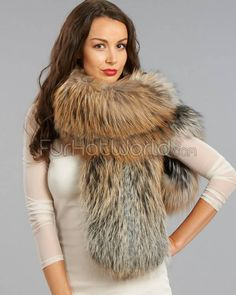 Exquisite Natural Red Fox Fur Stole - stunning