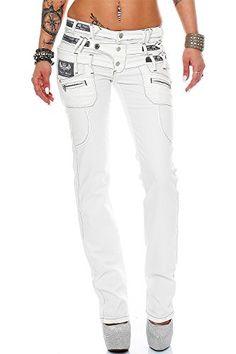 Cipo & Baxx Sexy Damen Jeans Hose Hüftjeans Skinny Regula…