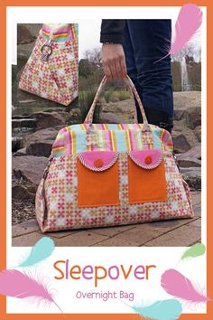 MELLY & ME SLEEPOVER OVERNIGHT BAG NEW PATTERN SEWING CRAFT