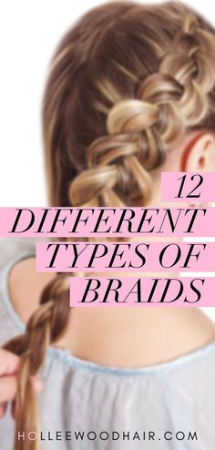 hair braids Different types of braided hairstyles are one of the hottest hair trends around. Do you know the difference between a Dutch braid, French braid and boxer braids Here are 12 different easy types of braids and tutorials on how to do them! Box Braids Hairstyles, French Braid Hairstyles, Popular Hairstyles, French Braids, Types Of Hairstyles, Easy Braided Hairstyles, Different Braid Hairstyles, Easy French Braid, Wedding Hairstyles