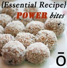 Need a little extra boost in your day? These Power Bites made with Wild Orange essential oil are packed full of nutrition to help keep you going.
