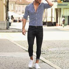 Hombre Combinacion Pantalon Negro