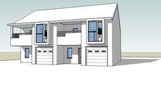 Unbuilt Conceptual design for a semi detached house