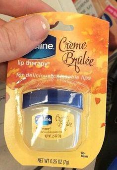 Spotted: NEW Vaseline Crème Brûlée Lip Therapy