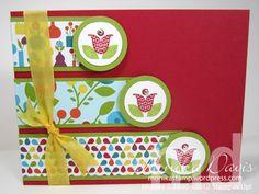 Stampin' Up! Summer Smooch Designer paper and Bright Blossoms stamp set