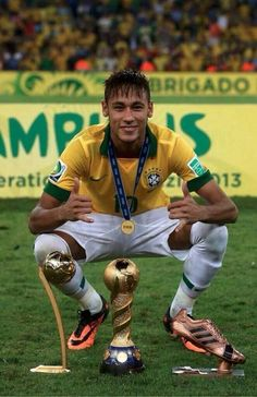 Shared by Find images and videos about brazil, football and neymar on We Heart It - the app to get lost in what you love. Neymar Jr, Neymar Brazil, Good Soccer Players, Football Players, Neymar Football, Fc Barcelona, Superstar, International Football, World Cup