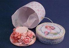 "Loretta Kasza 1"" Scale Hand Crafted Hat Box Set"