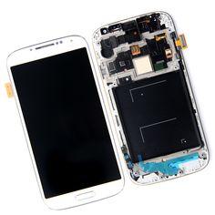 New LCD Screen Display Digitiler Glass Assembly With Frame For Samsung i9500 S4 i9505 i337 i545 L720 M919 R970 Free shipping