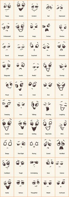 Decorative Rocks Ideas: Hand drawn funny expressions vector icons GooLoc … – - New Deko Sites Doodle Drawings, Cartoon Drawings, Easy Drawings, Doodle Art, Funny Drawings, Funny Sketches, Cartoon Art, Doodle Frames, Cartoon Ideas