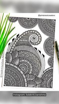 Easy Mandala Drawing, Mandala Sketch, Mandala Doodle, Doodle Art Drawing, Mandala Art Therapy, Mandala Art Lesson, Mandala Artwork, Fineliner Set, Doodle Art Designs