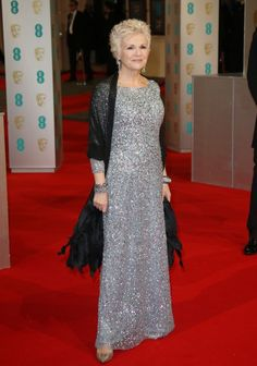 Julie Walters: this is molly weasley. in sparkly full-length. at baftas. I LOVE