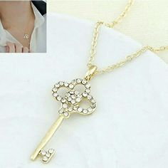 25d8a6465f28 Crystal Pendants Necklaces Jewelry collier femme H Crystal Pendants  Necklaces Jewelry collier femme Hot Fashion Gold