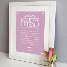 personalised 'my best friend' print by elephant grey | notonthehighstreet.com