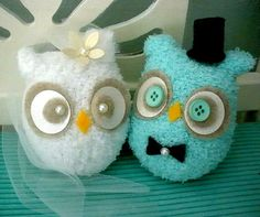 owl bride and groom :)