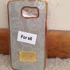 Silver Mk Samsung S6 case back hard case New plz check my closet for more iPhone cases too Accessories Phone Cases