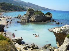 #PortoZoro #beach unspoilt, tranquil and sandy. It is known for the beautiful rock formations. #Zante #EleonGrandResort