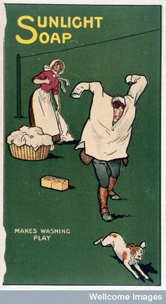 With the new technology advances in the 1920's specially in household inventions this soap could have been used in the early washing machine.