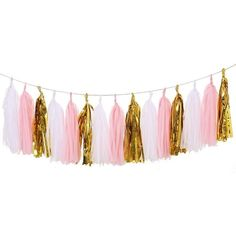 Ling's moment 15pcs Tissue Paper Tassels Garland, Mixed 3... (£6.81) ❤ liked on Polyvore featuring filler