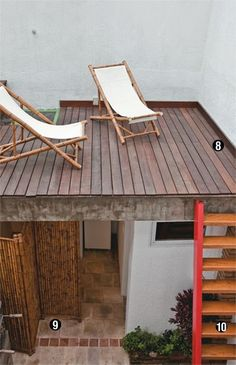 Flat roof deck options- Must have a bit of slant below to allow water and rain run off. Kb Homes, Garden Design Plans, Outdoor Living, Outdoor Decor, Outdoor Ideas, Small House Design, Roof Design, Outdoor Landscaping, New Homes For Sale