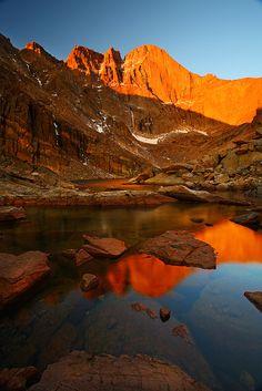 Longs Peak,Chasm Lake,Rocky Mountain National Park, Colorado, USA