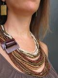 #Fairtrade jewelry - Statement necklace from India through Trades of Hope - women helping women!