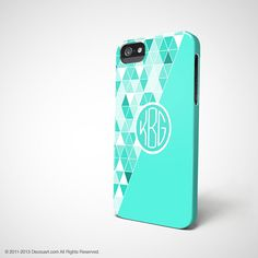 Personalised monogram iPhone 5s case iPhone 4 case by Decouart, $26.99