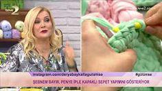 penye ipten sepet yapımı - YouTube