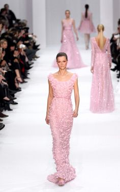 I love this pink gown. I would wear it to a ball if I were invited to one :)