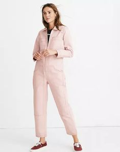 Madewell x Dickies® Zip Coverall Jumpsuit Denim Romper, Denim Jumpsuit, Sunday Outfits, Boiler Suit, Overalls Women, H&m Women, Celebrity Dresses, Celebrity Style