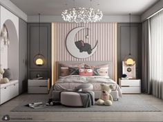 Kids Room Bed, Bedroom For Girls Kids, Diy Room Decor For Teens, Kids Room Murals, Girl Room, Bad Room Design, Room Design Bedroom, Girl Bedroom Designs, Small Room Bedroom