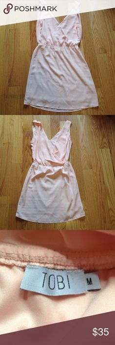 Tobi Pastel Pink Dress Worn once in great wearable condition!! Doesn't fit me right so please don't ask to model! Has an open flowy back! Runs small Tobi Dresses Midi