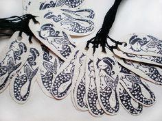 sirenas - mermaid handmade tags - craft