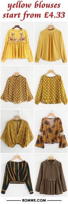 yellow blouses from £4.33