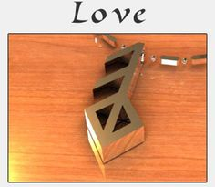 """LOVE - To share with someone specialThe  Icelandic word Ást translates as Love, Affection, or Devotion. We feel  this sentiment expresses the most intimate and heartfelt feelings, the  most tender emotions.   The Runic letters  combine to create this symbol of love and devotion. Pendants are made  of 925S Sterling Silver to show a sharply defined symbol  at its best.  The pendants come on an 18"""" (45cm) sterling chain.    Both the pendant and chain are rhodium coated to ensu..."""