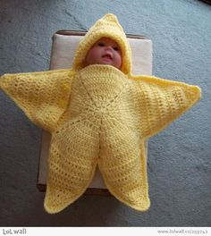 Little starfish on LOL Wall, by Magda Lena (funny photos,starfish,baby,costume)